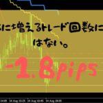 【FXトレード】回数は増えどもお金は増えない-1.8pips【2019年8月13日】